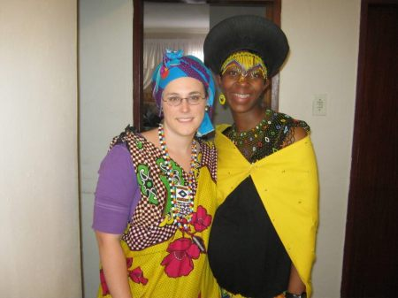 My sister-in-law and I. The world has gone global. Get over it.