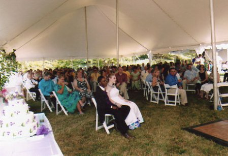 My own wedding reception, in July of 2007.