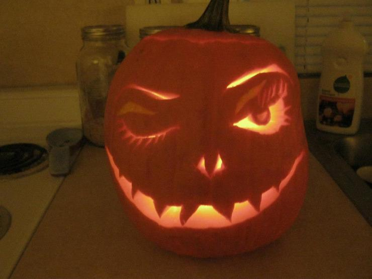 Going to college will never help you carve a pumpkin like this for your kids' Halloween.