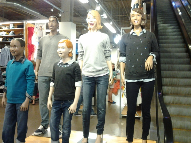 "In a 2013 Alaina Mabaso's Blog poll, these mannequins were voted ""Most Likely to Come to Life at Night and Creep Grinning Through the Shadows."""