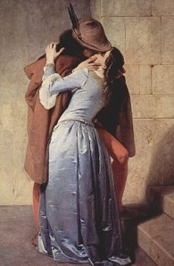 "1859's ""The Kiss"" by Francesco Hayez. Image via Wikimedia Commons."