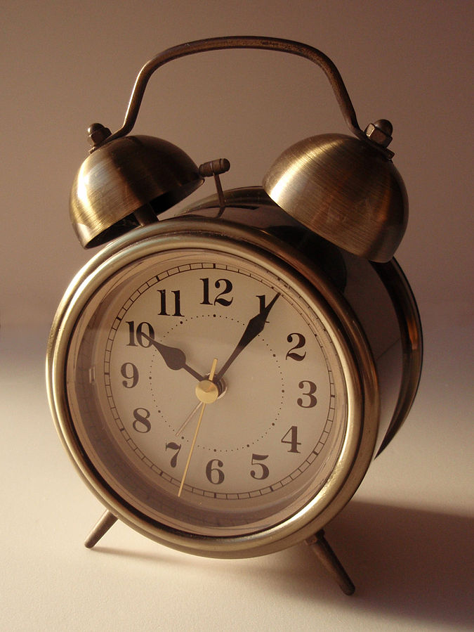 Who needs Satan when we've got alarm clocks? Image via Wikimedia Commons.