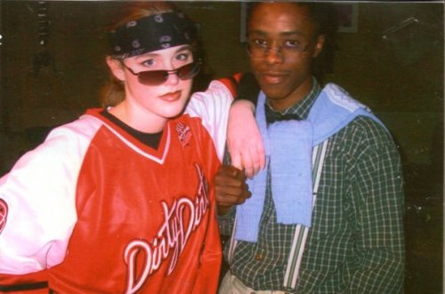 "College costume party, circa 2003. (""I can't believe he's dating HER."")"