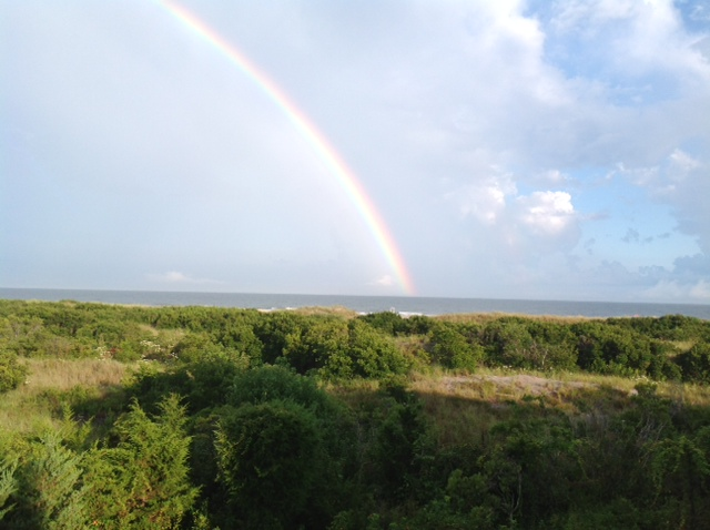 Is my picture of a Jersey shore rainbow too cheesy? I knew it. Too cheesy.