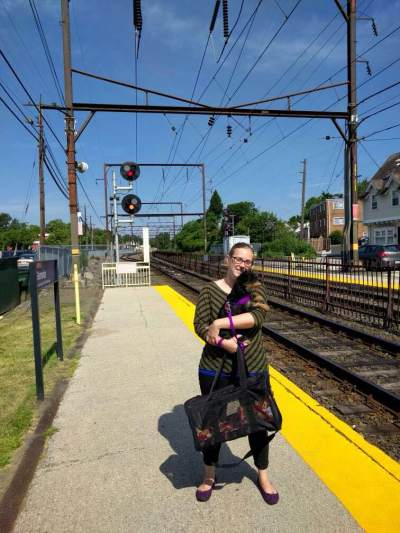Waiting for the train in Glenside, PA.